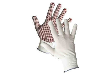 GANNET SYNTHETIC GLOVES PVC SPOTTED