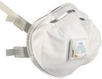3M prémium kategóriás FFP2-es szelepes maszk orrcsíptetővel és gumis pánttal