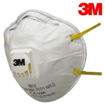3M csésze formájú FFP1-es szelepes maszk orrcsíptetővel és gumis pánttal