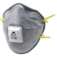 3M csésze formájú aktívszenes szelepes  FFP1-es maszk savas gázok ellen
