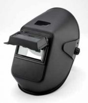 Hegesztő PP fejpajzs 110x90 mm-es felhajtható  látómezővel