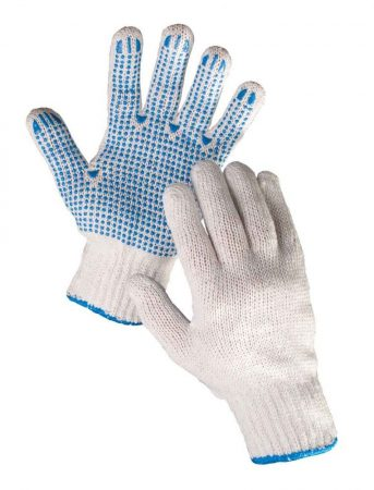 PLOVER SYNTHETIC GLOVES PVC SPOTTED