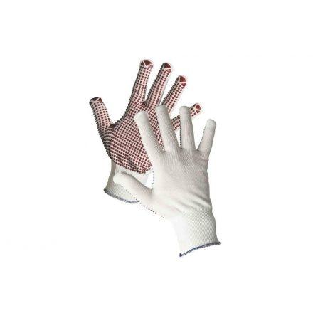GANNET műszálas handschuh PVC pöttyös