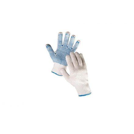 HS-04-011 műszálas handschuh PVC pöttyös