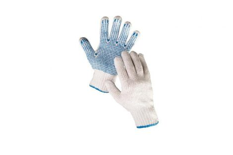 HS-04-011 SYNTHETIC GLOVES PVC SPOTTED