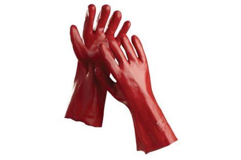REDSTART - RED PVC GLOVES 27 CM