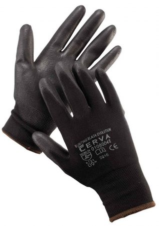 BUNTING  BLACK Evolution - Fekete kesztyű PU