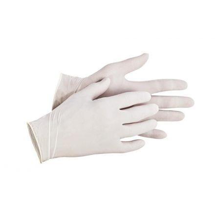 Latex púderezett, egyszer használatos kesztyű (10db)