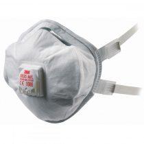 3M prémium kategóriás  FFP3-as szelepes maszk orrcsíptetővel és gumis pánttal