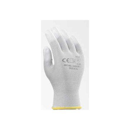 Carbonszálas ESD handschuh PU ujjvégmártással