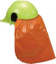 Helmetra csatlakoztatható tarkóvédő, PVC anyagból